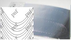 105-PFN Металлизированная наклейка серебро ( клеевая основа)