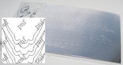 101-PFN Металлизированная наклейка серебро ( клеевая основа)