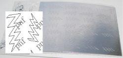 112-PFN Металлизированная наклейка серебро ( клеевая основа)