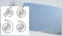 127-PFN Металлизированная наклейка серебро ( клеевая основа)