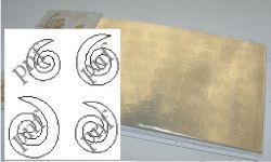 127z-PFN Металлизированная наклейка золото ( клеевая основа)