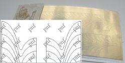133z-PFN Металлизированная наклейка золото ( клеевая основа)