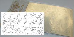 123z-PFN Металлизированная наклейка золото ( клеевая основа)