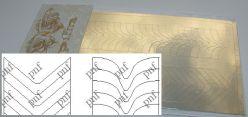 131z-PFN Металлизированная наклейка золото ( клеевая основа)