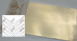 104z-PFN Металлизированная наклейка золото ( клеевая основа)