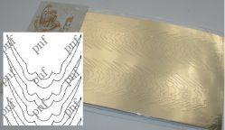 101z-PFN Металлизированная наклейка золото ( клеевая основа)