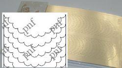 120z-PFN Металлизированная наклейка золото ( клеевая основа)