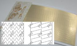 132z-PFN Металлизированная наклейка золото ( клеевая основа)