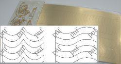 134z-PFN Металлизированная наклейка золото ( клеевая основа)
