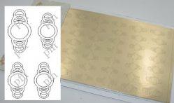 163z-PFN Металлизированная наклейка золото ( клеевая основа)