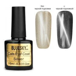 "Верхнее покрытие BlueSky Cats Eye ""Silver"" 10мл."