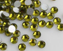 Стразы стекло Olive Green SS4/1,5мм в баночке 20шт