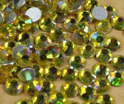 Стразы стекло Shimmering Lemon AB SS6/2мм в баночке 20шт