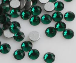 Стразы стекло Dark Green SS3/1,3мм в баночке 20шт