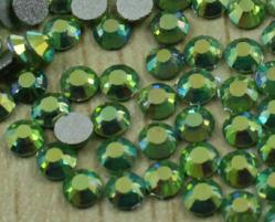 Стразы стекло Light Green AB SS6/2мм в баночке 20шт