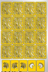 Трафарет для дизайна ногтей PRIMA Nails. Зебра (22 дизайна+ 55 полосок)