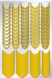 Трафарет для дизайна ногтей PRIMA Nails. Френч и лунки. Грация (136 рисунков)
