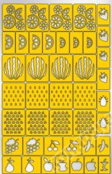 Трафарет для дизайна ногтей PRIMA Nails. Фруктовый сад (42 дизайна)