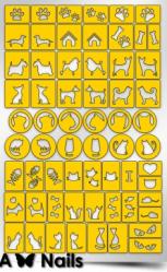 Трафарет для дизайна ногтей PRIMA Nails. Кошки против собак (63 дизайна)