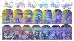 9537 Слайдер-дизайн PFN фольгированный серебро