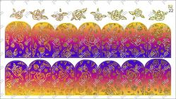 5222 Слайдер-дизайн PFN фольгированный золото