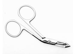 T4-20-04 (ПН-04) Пинцет-ножницы для бровей (зауженные прямые кромки) Сталекс