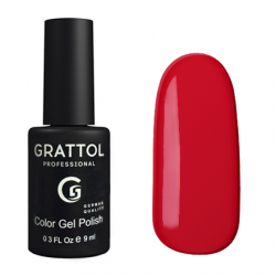GTC082 Гель-лак Grattol Color Gel Polish - Cherry Red 9мл.