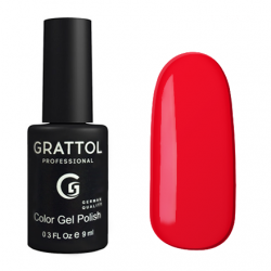GTC083 Гель-лак Grattol Color Gel Polish - Pure Red 9мл.