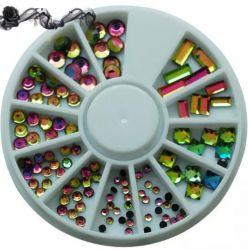 KM-32 Цветные декоративные стразы