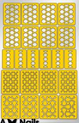 Трафарет для дизайна ногтей PRIMA Nails. Абстракция-2