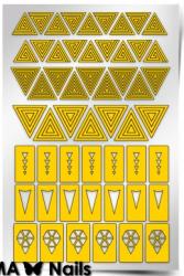 Трафарет для дизайна ногтей PRIMA Nails. Геометрия. Треугольники