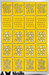 Трафарет для дизайна ногтей PRIMA Nails. Осенний принт