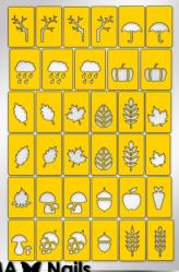 Трафарет для дизайна ногтей PRIMA Nails. Осень