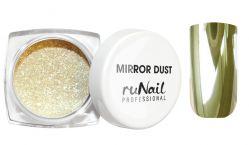 Зеркальная пыль для втирки с аппликатором Runail (цвет: золото), 1гр.