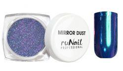 Зеркальная пыль для втирки с аппликатором Runail (цвет: синий), 1гр.