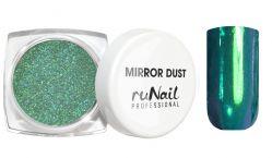 Зеркальная пыль для втирки с аппликатором Runail (цвет: зеленый), 1гр.