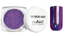 Зеркальная пыль для втирки с аппликатором Runail (цвет: сиреневый), 1гр.