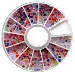 KM-40 Цветные декоративные кристаллы (алмаз , 1,5мм)
