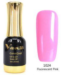 #1024 Гель-лак VENALISA Fluorescent Pink 12мл.