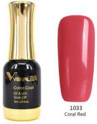 #1033 Гель-лак VENALISA Coral Red 12мл.