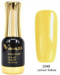 #1048 Гель-лак VENALISA Lemon Yellow 12мл.