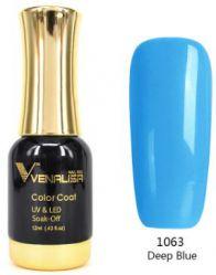 #1063 Гель-лак VENALISA Deep Blue 12мл.