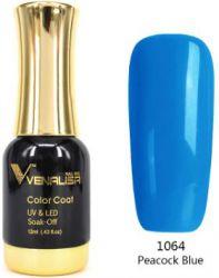 #1064 Гель-лак VENALISA Peacock Blue 12мл.