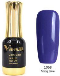 #1068 Гель-лак VENALISA Ming Blue 12мл.