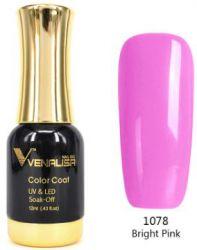 #1078 Гель-лак VENALISA Bright Pink 12мл.