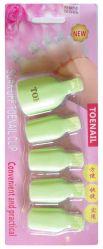 Зажимы для снятия гель-лака для ног, 5 шт JN (цвета в ассортименте)