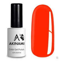 Гель-лак AKINAMI №015 Orange Red 9мл.