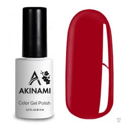 Гель-лак AKINAMI №017 Aurora Red 9мл.