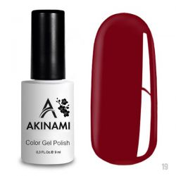 Гель-лак AKINAMI №019 Dark Red 9мл.