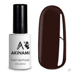 Гель-лак AKINAMI №027 Chocolate 9мл.